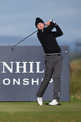 5th October 2017, The Old Course, St Andrews, Scotland; Alfred Dunhill Links Championship, first round; Lasse Jensen of Denmark tees off on the fifteenth hole during the first round at the Alfred Dunhill Links Championship on the Old Course, St Andrews