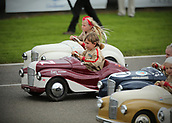 10th September 2017, Goodwood Estate, Chichester, England; Goodwood Revival Race Meeting; Children take part in the Pedal Go-Cart racing