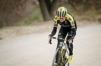 Annemiek Van Vleuten (NED/Mitchelton-Scott) charging up the gravel<br /> <br /> race reconnaissance 1 day prior to the 13th Strade Bianche 2019 (1.UWT)<br /> <br /> ©kramon