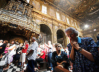 NAPOLI  MIRACOLO DI SANTA PATRIZIA .ANCHE SANTA PATRIZIA UNA DELLE PATRONE DI NAPOLI ESEGUE IL SUO MIRACOLO IL 25 AGOSTO NELLA  CHIESA DI SAN GREGORIO ARMENO IL SANGUE DELLA SANTA CONSERVATO NELLE AMPOLLE PASSA ALLO STADIO LIQUIDO  ...Chiesa di San Gregorio Armeno.The Miracles Of Saint Patrizia.Saint Patrizia's blood liquefies as that of san Gennaro.Saint Patrizia is the other Patron Saint of Naples and her blood, which is kept in the monastery at San Gregorio Armeno, liquefies on 25 August every year (which is her Saint's day).ph ciro de luca..Si ripete annuamente  il miracolo della liquefazione del sangue Santa Pastrizia, infatti cosi come per san Gennaro anche per la patrona di Napoli avviene la liquefazione del sangue propio nel giorno in cui si festeggia la santa  *** Local Caption *** .