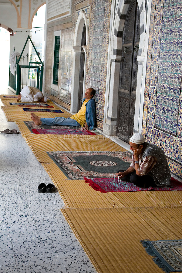 Tripoli, Libya - Men Praying, Using Prayer Beads, Karamanli Mosque, Tripoli Medina