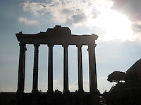 The temple of someone, the Roman Forum.