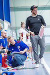 Mannheim, Germany, December 01: During the Bundesliga indoor women hockey match between Mannheimer HC and Nuernberger HTC on December 1, 2019 at Irma-Roechling-Halle in Mannheim, Germany. Final score 7-1. (Copyright Dirk Markgraf / 265-images.com) *** head coach Nicklas Benecke of Mannheimer HC