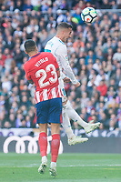 Real Madrid Lucas Vazquez and Atletico de Madrid Vitolo Machin during La Liga match between Real Madrid and Atletico de Madrid at Santiago Bernabeu Stadium in Madrid, Spain. April 08, 2018. (ALTERPHOTOS/Borja B.Hojas) /NortePhoto NORTEPHOTOMEXICO