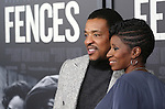 Russell Hornsby and Denise Walker attends the 'Fences' New York screening at Rose Theater, Jazz at Lincoln Center on December 19, 2016 in New York City.
