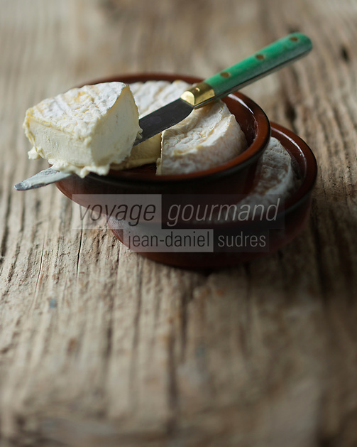 Europe/France/Rhone-Alpes/07/Ardeche:  Fromage Saint-Félicien - Stylisme : Valérie LHOMME //  France, Ardeche, Cheese Saint Felicien, Styling Valerie Lhomme