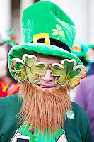 17/3/2011. ST PATRICKS DAY DUBLIN. Nicholas O Connor is pictured on College Green enjoying the Dublin St Patricks Day Parade. Picture James Horan/Collins Photos