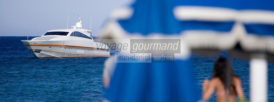 Europe/France/ Provence-Alpes-Côte d'Azur/83/Var/Presqu'Ile de Saint-Tropez/ Ramatuelle: Plage de Pampelonne