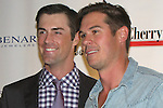 Former Eagles player AJ Feeley with Philadelphia Phillies Pitcher Cole Hamels as he heads the Hamels Foundation as it presents Diamonds & Denim on August 27, 2012 at the Crystal Tea Room, Philadelphia, Pennsylvania.  (Photo by Sue Coflin/Max Photos)