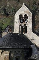 Europe/France/Midi-Pyrénées/09/Ariège/Couserans/Bordes-sur-Lez: Le clocher de l'église