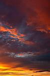 Stunning summer sunset in Page, Arizona, AZ, USA