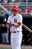 St.John's Red Storm shortstop Joe Panik (2)  during a game vs. the Cincinnati Bearcats at Jack Kaiser Stadium in Queens, NY;  March 25, 2011.  St. John's defeated Cincinnati 3-2.  Photo By Tomasso DeRosa/Four Seam Images