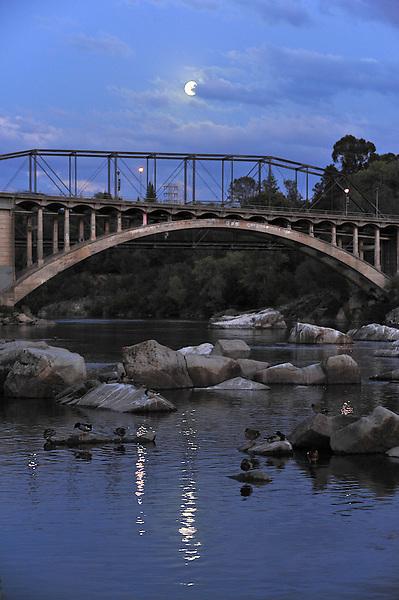 Moon over Rainbow Bridge Folsom CA