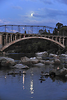 Moon over Rainbow Bridge Folsom CA