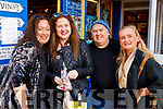 Cailín Benison, Eleanor Feeney, Brian Lee and Louise O'Donnell enjoying the Dingle Food Festival on Saturday last.