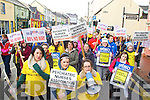 Student nurses from the IT Tralee protesting at Wage cuts for Nurses in Tralee on Monday afternoon.