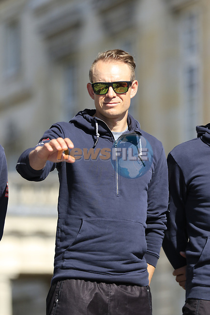 Alexander Kristoff (NOR) Team Katusha Alpecin at the Team Presentation for the upcoming 115th edition of the Paris-Roubaix 2017 race held in Compiegne, France. 8th April 2017.<br /> Picture: Eoin Clarke   Cyclefile<br /> <br /> <br /> All photos usage must carry mandatory copyright credit (&copy; Cyclefile   Eoin Clarke)