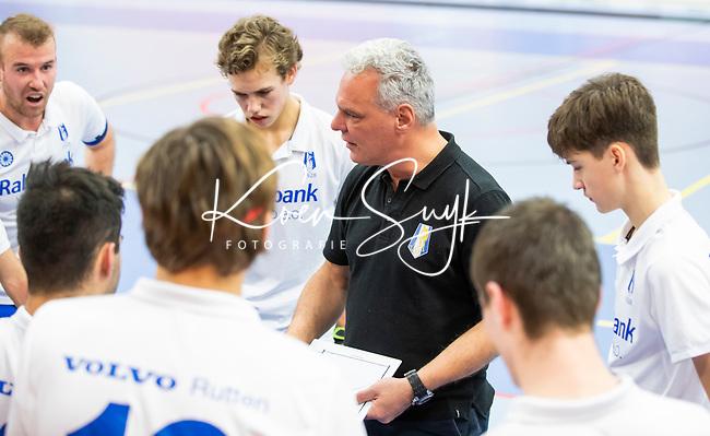ROTTERDAM  - NK Nacompetitie Zaalhockey heren. HCKZ-Venlo (3-5) Venlo  promoveert.  coacht Oliver Kurtz van Venlo.    COPYRIGHT KOEN SUYK