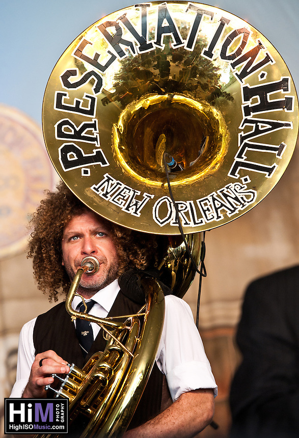 Preservation Hall Band ripping up Voodoo Festival 2010!