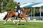 Clayton Fredericks riding Walterstown Don during day 2 of the dressage phase at the 2012 Land Rover Burghley Horse Trials in Stamford, Lincolnshire,UK.