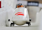 17 December 2010:  Victoria Tokovaya pilots her 2-man bobsled for Russia, finishing 15th for the day at the Viessmann FIBT World Cup Bobsled Championships in Lake Placid, New York, USA. The event was a Make-up Race from the previous week at Park City where the Women's Bobsled had to be cancelled due to severe snow conditions. Mandatory Credit: Ed Wolfstein Photo