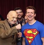 Charles Strouse with Dominic Wintz during the Children's Theatre of Cincinnati presentation for composer Charles Strouse of 'Superman The Musical' at Ripley Grier Studios on June 8, 2018 in New York City.