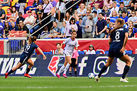 HARRISON, NJ - SEPTEMBER 29: Carson Pickett #16 of the Orlando Pride during a game between Orlando Pride and Sky Blue FC at Red Bull Arena on September 29, 2019 in Harrison, New Jersey.