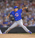 Kyuji Fujikawa (Cubs),<br /> AUGUST 6, 2014 - MLB : Kyuji Fujikawa of the Chicago Cubs pitches against the Colorado Rockies during the Major League Baseball game at Coors Field, Denver,  Colorado, USA.<br /> (Photo by AFLO)