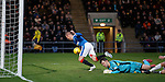 Kenny Miller bundles the ball over the line to score for Rangers after colliding with keeper Mark Brown