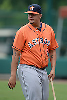 Houston Astros pitcher Juan Santos (6) during an Instructional League game against the Atlanta Braves on September 22, 2014 at the ESPN Wide World of Sports Complex in Kissimmee, Florida.  (Mike Janes/Four Seam Images)