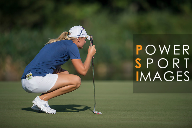 Anna Nordqvist plays during the World Celebrity Pro-Am 2016 Mission Hills China Golf Tournament on 22 October 2016, in Haikou, China. Photo by Marcio Machado / Power Sport Images