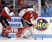 Mike Bergin (RPI - 8), Allen York (RPI - 30) - The visiting Rensselaer Polytechnic Institute Engineers tied their host, the Northeastern University Huskies, 2-2 (OT) on Friday, October 15, 2010, at Matthews Arena in Boston, MA.