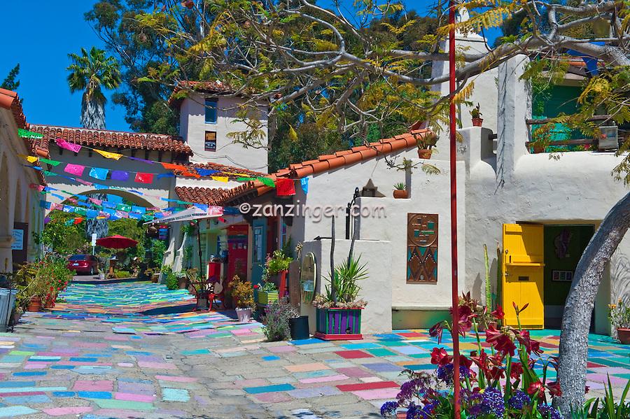 Spanish Village, Art Center, Artist Studios, Balboa Park, San Diego, Ca