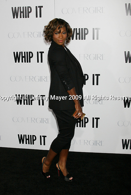 """HOLLYWOOD, CA. - September 29: Serena Williams arrives at the Los Angeles premiere of """"Whip It"""" at the Grauman's Chinese Theatre on September 29, 2009 in Hollywood, California."""