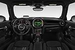 Stock photo of straight dashboard view of 2019 MINI Hardtop-2-Door John-Cooper-Works-Iconic 5 Door Hatchback Dashboard