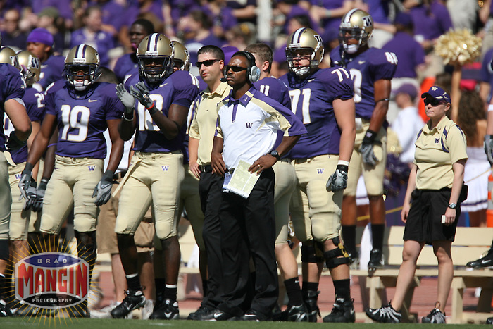 SEATTLE, WA - SEPTEMBER 8:  Head coach Tyrone Willingham of the University of Washington Huskies in action during the game against the Boise State Broncos at Husky Stadium in Seattle, Washington on September 8, 2007.  Photo by Brad Mangin