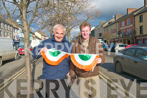 Organisers of Castleisland Parade are calling on everyone to come out and support the celebration. .L-R Charlie Farrelly and Ted Kenny who are among the organisers of the parade which last year was a major success.