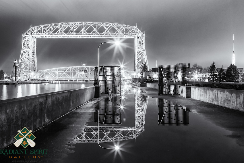 &quot;Aerial Spring Reflections&quot; (monochrome)<br />