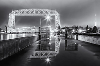 """Aerial Spring Reflections"" (monochrome)<br />