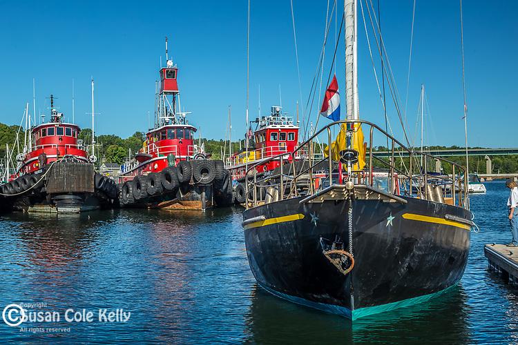 Tugboats in Belfast, Maine, USA