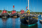 Tugboats in Belfast, Maine, USA
