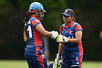 Nairry Thapa (l) and Jyoti Pandey of Nepal in action during their ICC 2016 Women's World Cup Asia Qualifier match between China and Nepal  on 11 October 2016 at the Kowloon Cricket Club in Hong Kong, China. Photo by Marcio Machado / Power Sport Images
