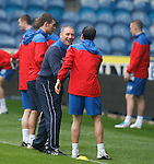Ally McCoist welcomes the new boy with no 38 tattoed on his leg