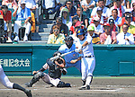 Kaito Arai (Maebashi Ikuei),<br /> AUGUST 22, 2013 - Baseball :<br /> 95th National High School Baseball Championship Tournament final game between Maebashi Ikuei 4-3 Nobeoka Gakuen at Koshien Stadium in Hyogo, Japan. (Photo by Katsuro Okazawa/AFLO)70