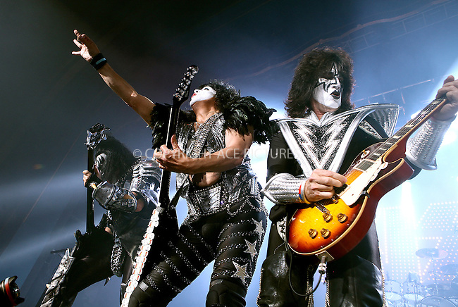 WWW.ACEPIXS.COM . . . . .  ..... . . . . US SALES ONLY . . . . .....July 4, 2012, London ....KISS perform during a one-off show in support of Help For Heroes at HMV Forum on July 4, 2012 in London ....Please byline: FAMOUS-ACE PICTURES... . . . .  ....Ace Pictures, Inc:  ..Tel: (212) 243-8787..e-mail: info@acepixs.com..web: http://www.acepixs.com