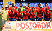 BARRANQUILLA -COLOMBIA-27-AGOSTO-2014. Formacion de Uniautonoma  ante Atletico Junior   ,  partido de la Copa Postobon decima fecha disputado en el estadio Metropolitano. / Team of Uniautonoma   against  Atletico Junior   , match of the Copa Postobon tenth  round match at the Metropolitano stadium  Photo: VizzorImage / Alfonso Cervantes / Stringer