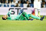 Real Madrid's Keylor Navas injured during La Liga match. March 1,2017. (ALTERPHOTOS/Acero)