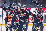 Stockholm 2013-12-28 Ishockey Hockeyallsvenskan Djurg&aring;rdens IF - Almtuna IS :  <br /> Djurg&aring;rden Michael Holmqvist har gjort 1-0 och jublar med Djurg&aring;rden Joakim Eriksson , Djurg&aring;rden Marcus S&ouml;rensen , Djurg&aring;rden Dustin Johner och Djurg&aring;rden Nils Andersson <br /> (Foto: Kenta J&ouml;nsson) Nyckelord:  jubel gl&auml;dje lycka glad happy