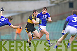 Brian Looney of Dr Crokes and Cillian Duggan of Cratloe in the AIB Munster Senior Football Final played last Sunday in The Gaelic Grounds, Limerick.