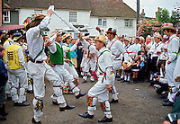 Male dancers Morris Dancing, Essex., United Kingdom.